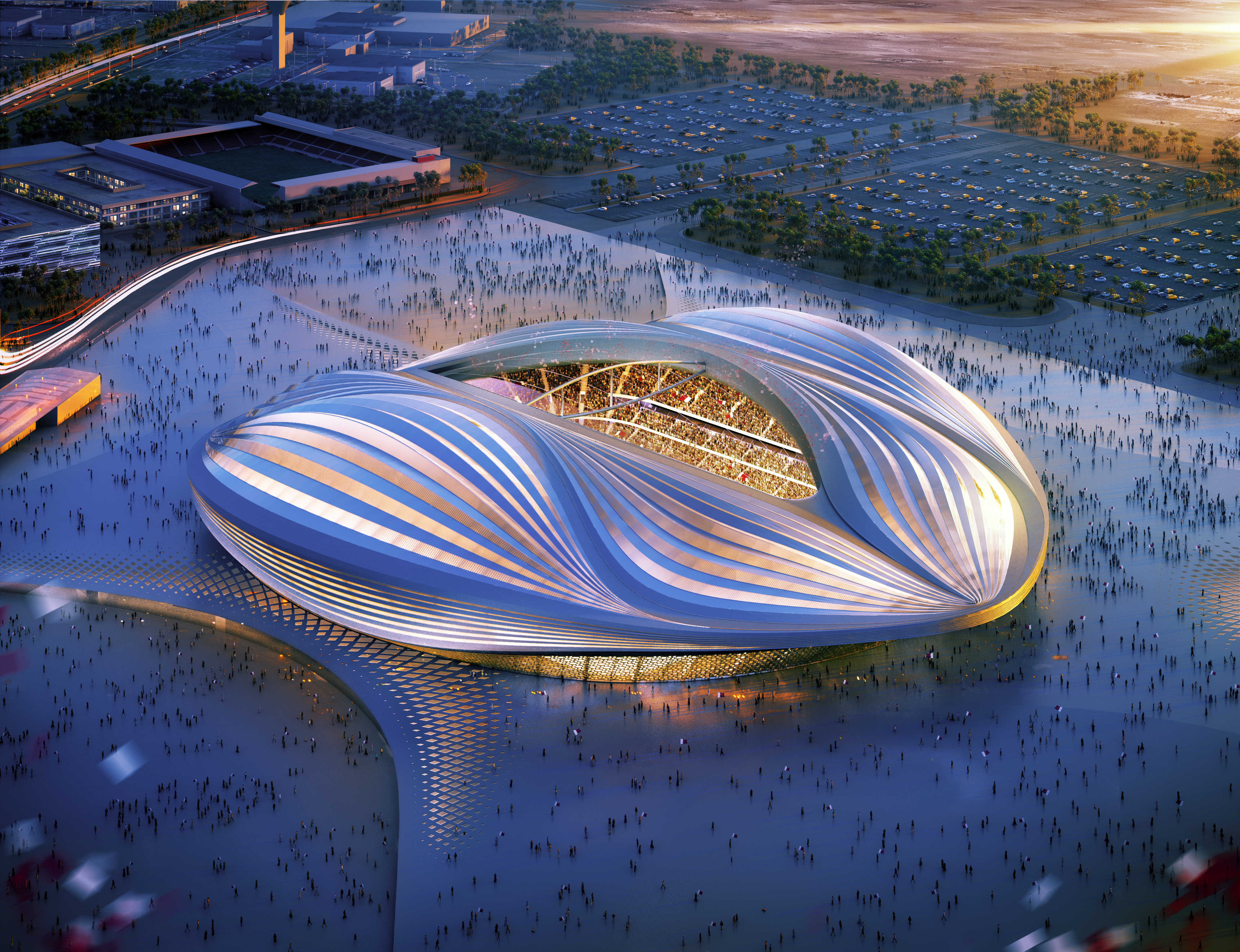 Education stadia and arenas sports and leisure healthcare residential - Al Wakrah Stadium And Precinct