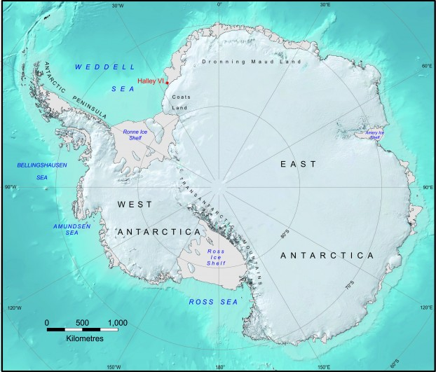 Halley VI Research Station AECOM - Antarctic research stations map