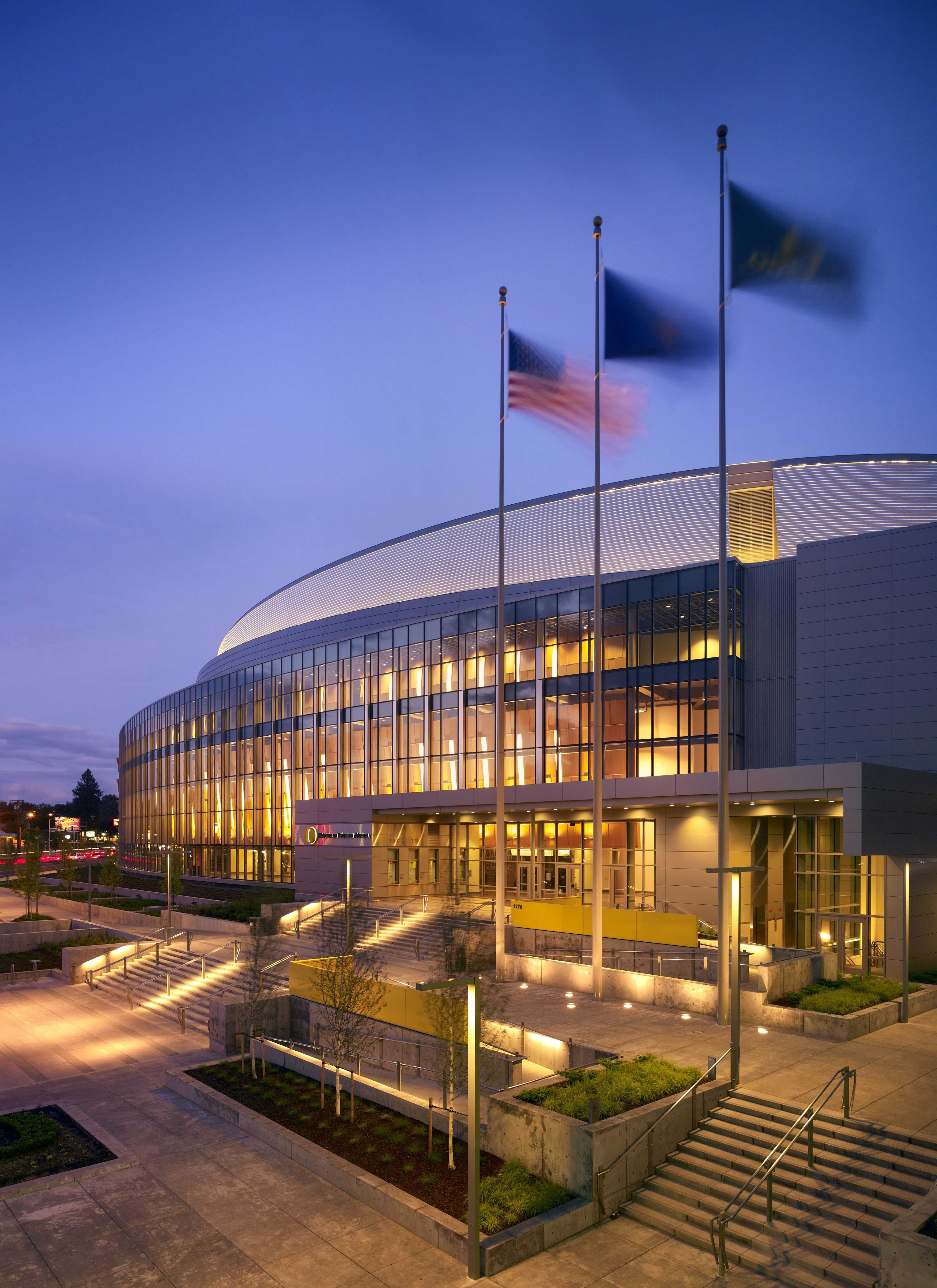 Education stadia and arenas sports and leisure healthcare residential - Matthew Knight Arena University Of Oregon