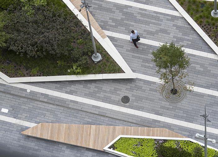 Bird's-eye view for Manhattan park