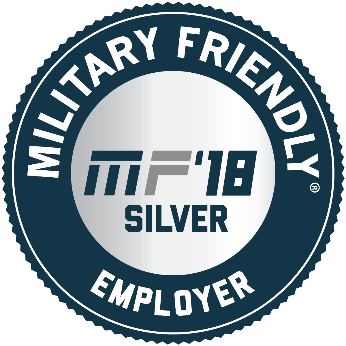 Military Friendly Employers Silver Award 2018