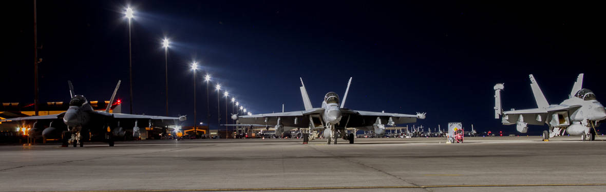 AECOM improved runway lighting at Nellis Air Force Base, Nevada