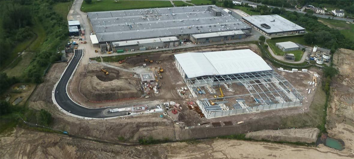 Aerial view of the facility