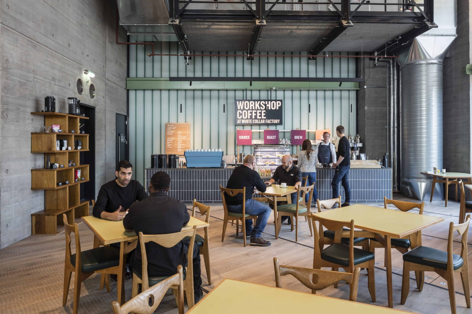 The cafe area of White Collar Factory