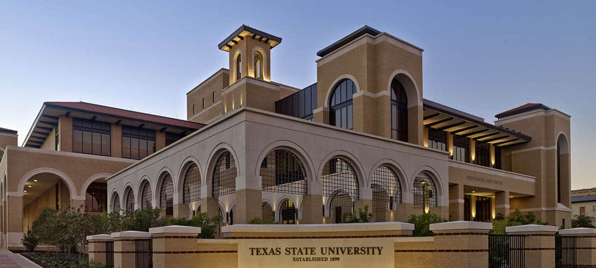 texas state university san marcos performing arts center complex