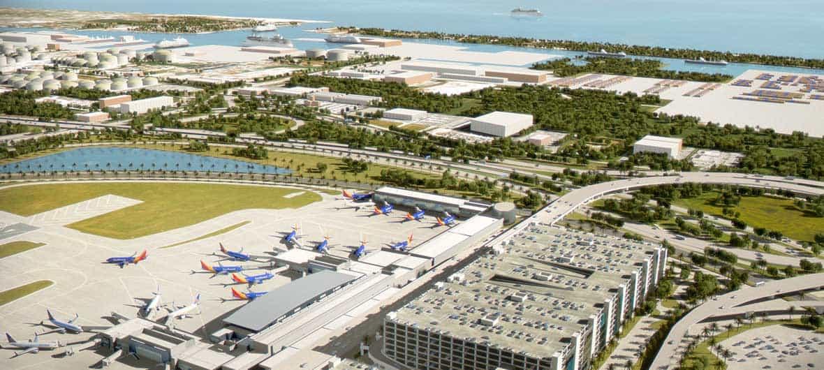 Tren urbano rail system caribbean puerto rico Airport planning and design course