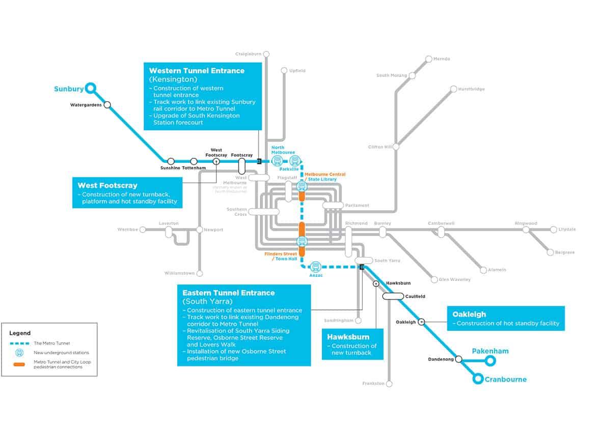 Melbourne Metro Map 2 Aecom